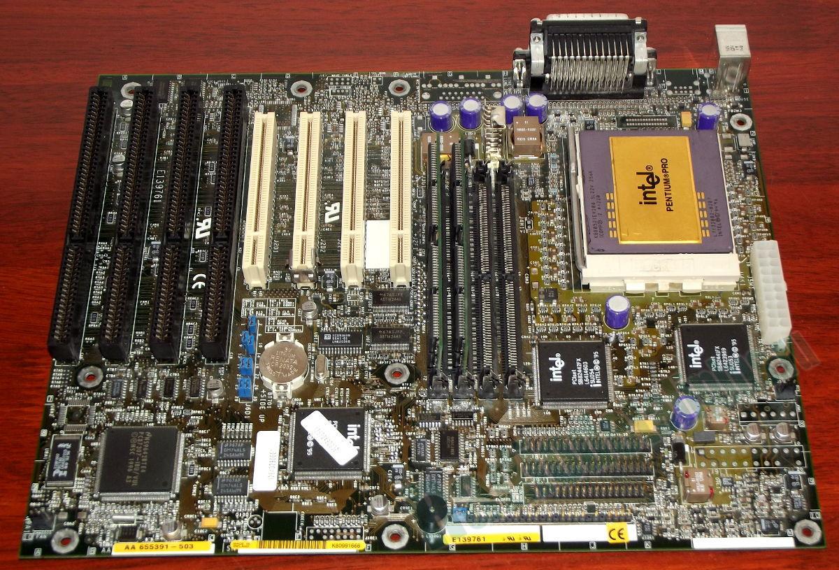 Материнские платы до поколения Pentium 4